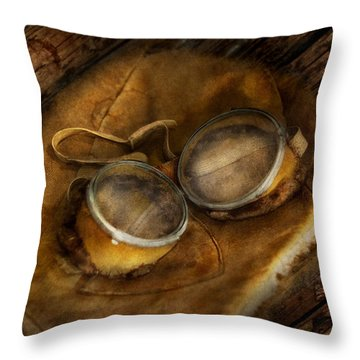 Steampunk - Hey Fly-boy  Throw Pillow by Mike Savad