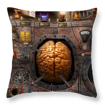 Steampunk - Information Overload Throw Pillow