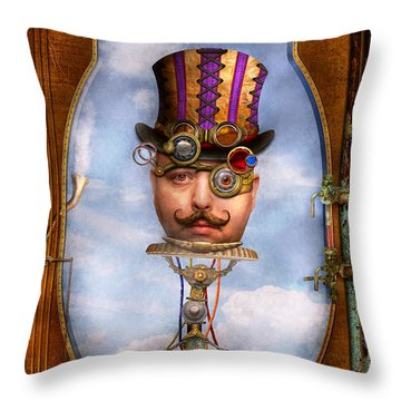 Steampunk - Integrated Throw Pillow by Mike Savad