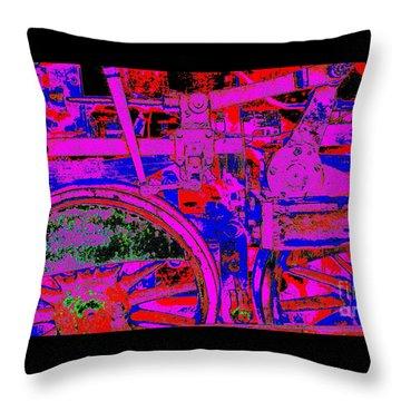 Steampunk Iron Horse #4 Throw Pillow by Peter Gumaer Ogden