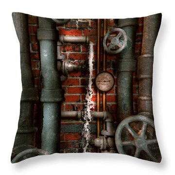Steampunk - Plumbing - Pipes And Valves Throw Pillow