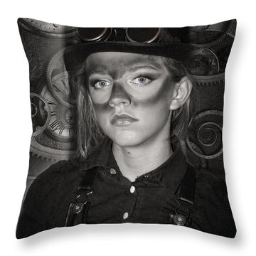 Steampunk Princess Throw Pillow
