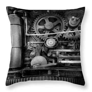 Steampunk - Serious Steel Throw Pillow by Mike Savad