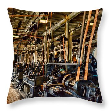 Steampunk - The Age Of Industry Throw Pillow