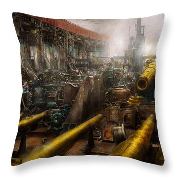 Steampunk - War - We Are Ready Throw Pillow