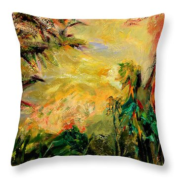 Steamy Cove Throw Pillow