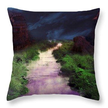 Steamy Creek Throw Pillow
