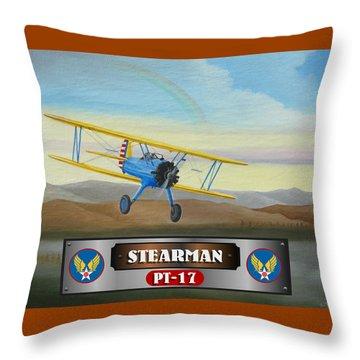 Stearman Pt-17 Throw Pillow