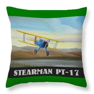 Stearman Pt-17 Training Flight Throw Pillow