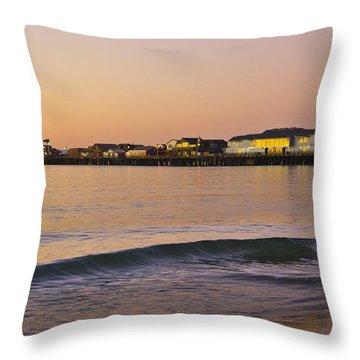 Stearns Wharf At Dawn Throw Pillow