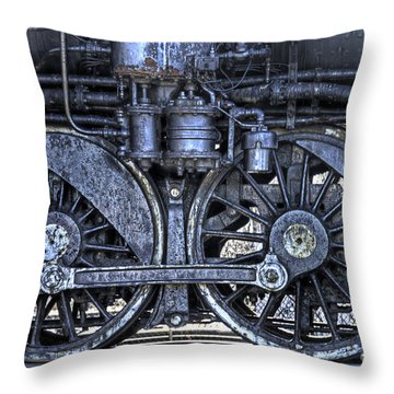 Steel Throw Pillow by Alana Ranney