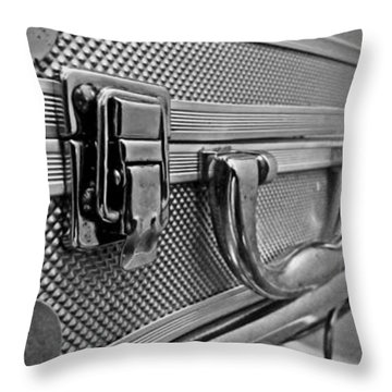 Throw Pillow featuring the photograph Steel Box - Triptych by James Aiken