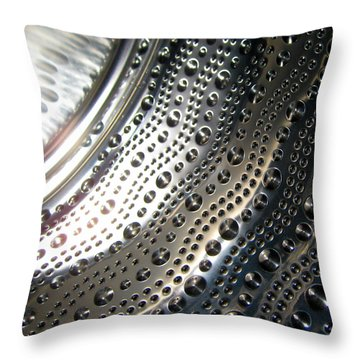 Steel Bubbles Throw Pillow