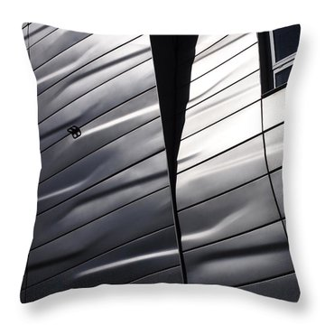 Throw Pillow featuring the photograph Steel Currents by Rona Black