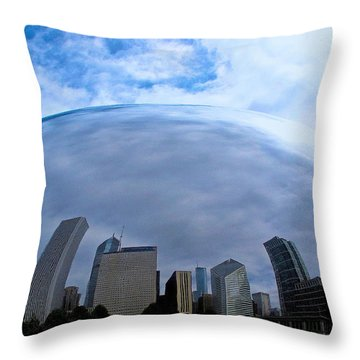Steel Globe Throw Pillow by Zafer Gurel