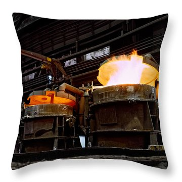 Steel Industry In Smederevo. Serbia Throw Pillow