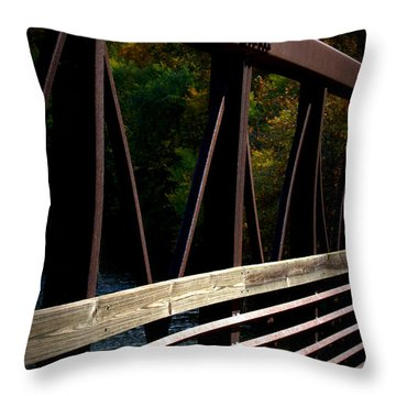 Steel Lines Throw Pillow