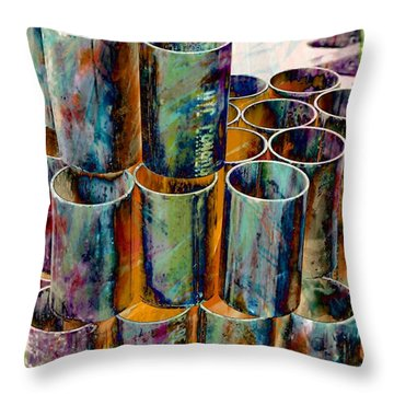 Steel Pipes Throw Pillow