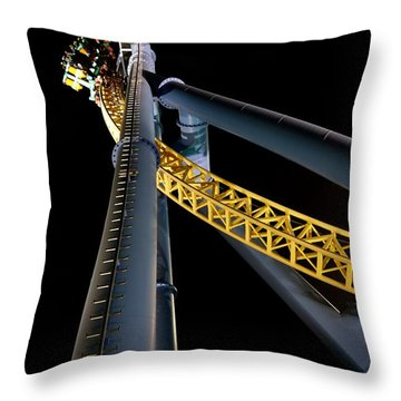 Steel Venom Throw Pillow