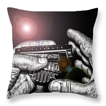 Steelworker's Blues Throw Pillow