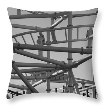 Steeple Chase In Black And White Throw Pillow by Rob Hans