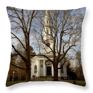 Steeple In The Trees Throw Pillow