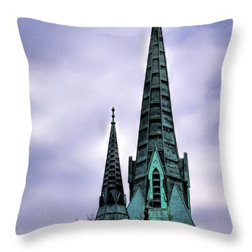 Steeple Of St Agnes Throw Pillow