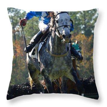 Steeplechase Throw Pillow