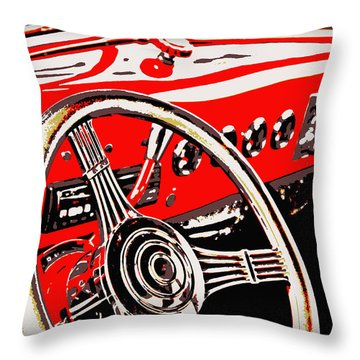 Steering Wheel Throw Pillow