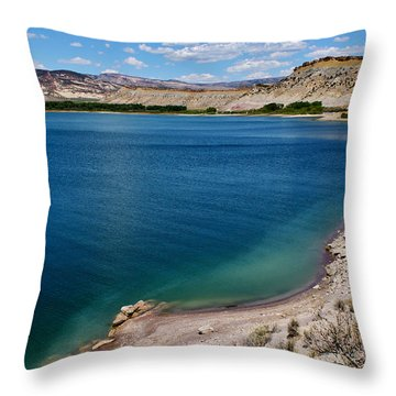 Throw Pillow featuring the photograph Steinacker Reservoir Utah by Janice Rae Pariza