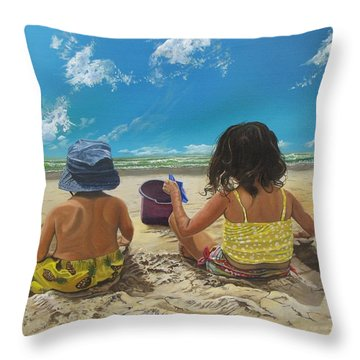 Stella And Sal Throw Pillow by Kevin F Heuman