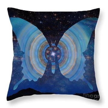 Stellar Butterfly Throw Pillow