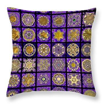 Stellars Two Dingbat Quilt Throw Pillow