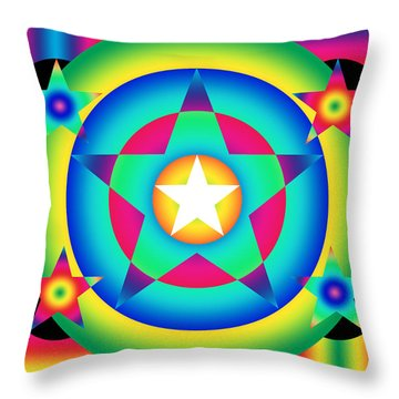 Stellate Quincunx Throw Pillow