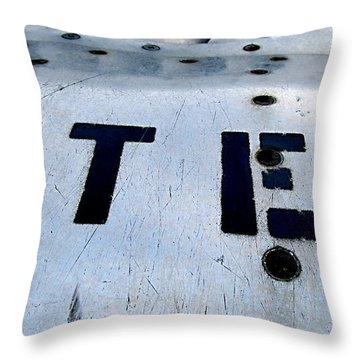 Step As Watch Out  Throw Pillow by Danielle  Parent