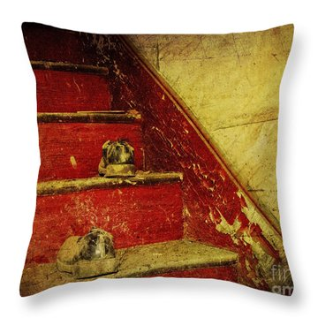 Throw Pillow featuring the photograph Step Back In Time by Debra Fedchin