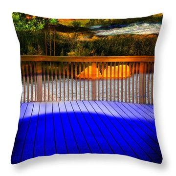 Throw Pillow featuring the photograph Step Out by Gunter Nezhoda