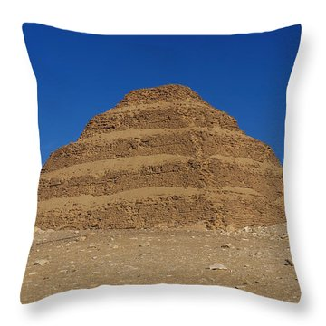 Step Pyramid Of King Djoser At Saqqara  Throw Pillow