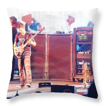 Stephan The Bass Player Throw Pillow by Aaron Martens