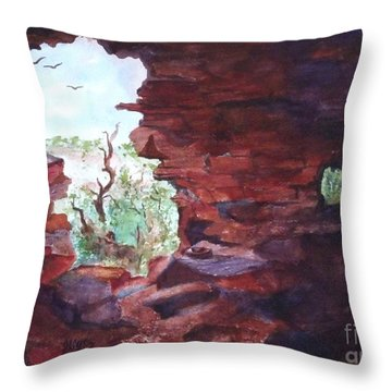 Stepping Back In Time And Looking Out Throw Pillow