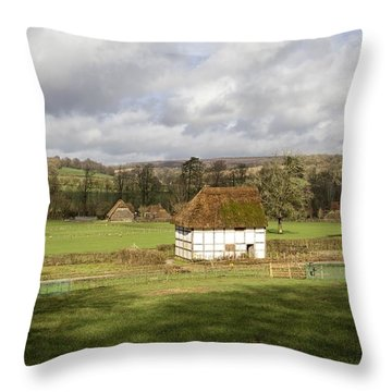 Throw Pillow featuring the photograph Stepping Back In Time by Shirley Mitchell