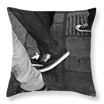 Throw Pillow featuring the photograph Stepping Out by Clare Bevan