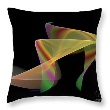 Stepping Out Throw Pillow by Dee Flouton