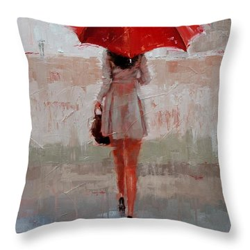 Stepping Out Throw Pillow by Laura Lee Zanghetti