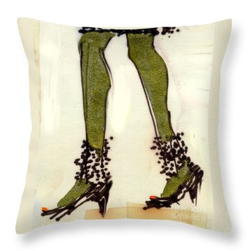 Stepping Out With My Baby Throw Pillow