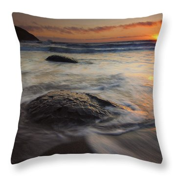 Stepping Stones Throw Pillow by Mike  Dawson