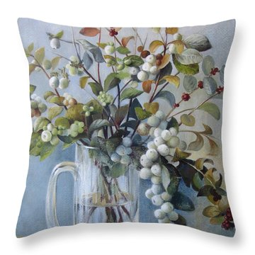 Stepping To Another Season Throw Pillow