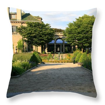 Stepping Up  Throw Pillow by Neal Eslinger