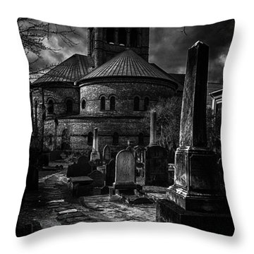 Steps Into The Past Throw Pillow by Lynn Palmer