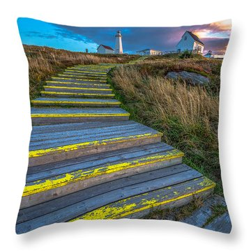 Steps To Cape Spear Throw Pillow